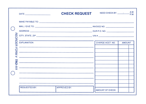 Check Request Form - check request forms