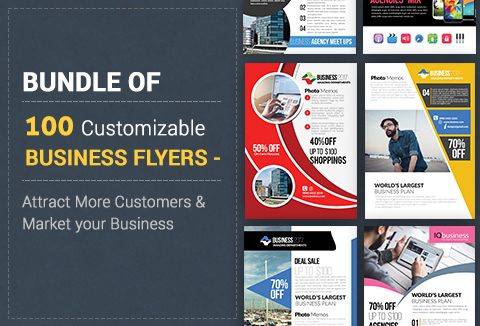 A Bundle of 100 Attractive PSD Flyer Templates for your Business