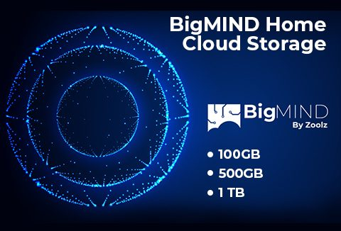 Lifetime Cloud Storage Plans 100GB, 500GB  1TB Zoolz BigMIND
