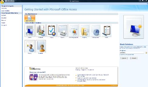 Create Access Database