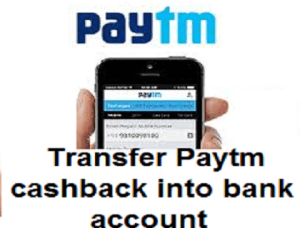 paytm cash in bank account