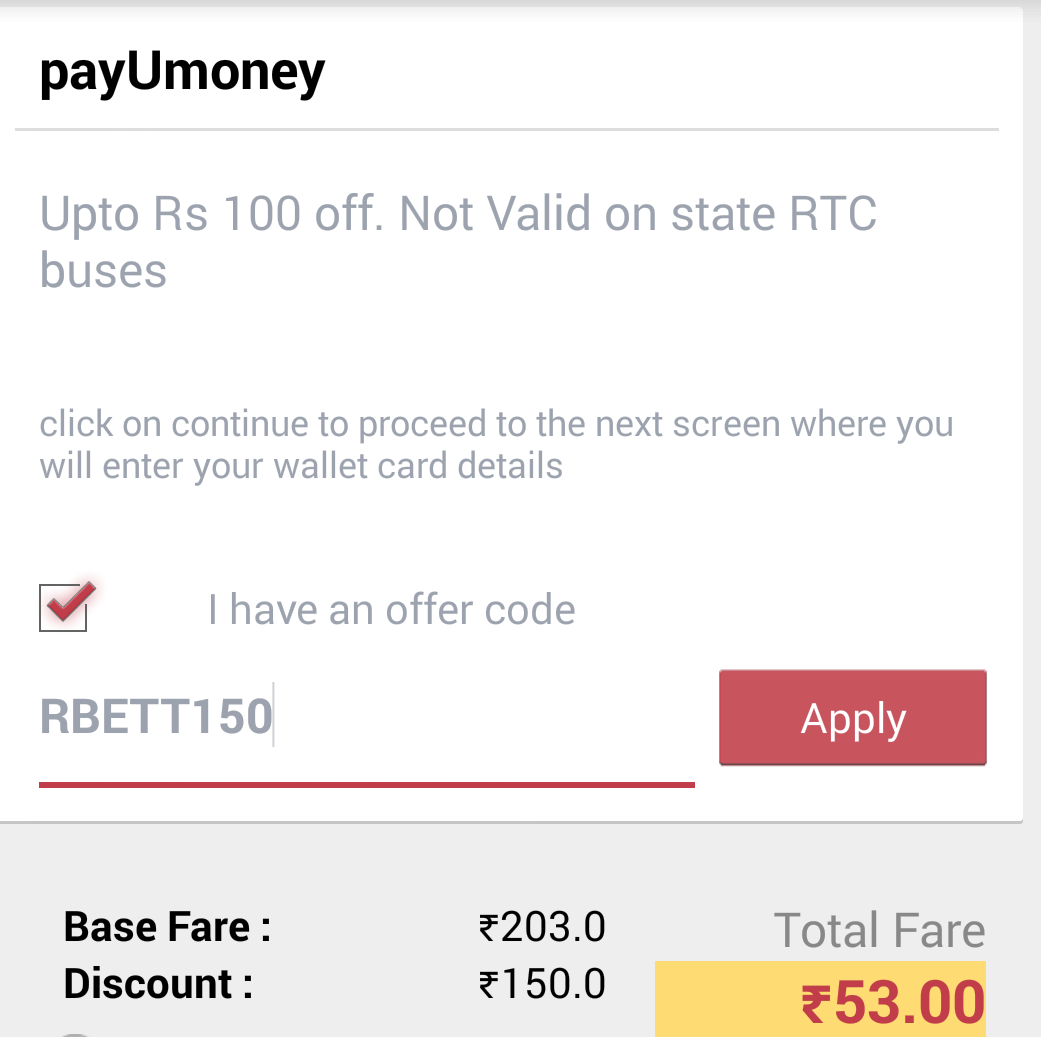 Redbus discount coupons august 2018