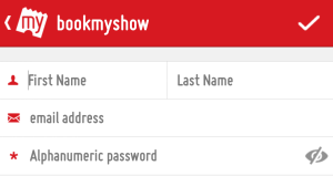 bookmyshow sign up for new account