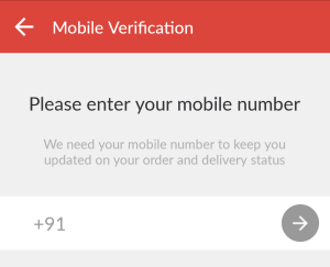 peppertap verify your mobile number