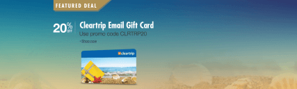Amazon- Buy Cleartrip Instant Voucher worth Rs 1000 at Rs 800 only