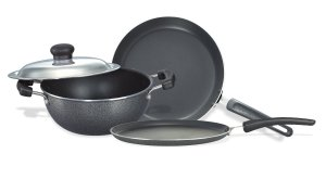 (Back) Amazon- Buy Prestige Omega Select Plus Non-Stick BYK Set (3-Pieces) at just Rs 1373 only