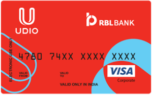 Udio- Get flat 3% cashback on transaction of Rs 500 or more paying via Udio Visa Prepaid Card