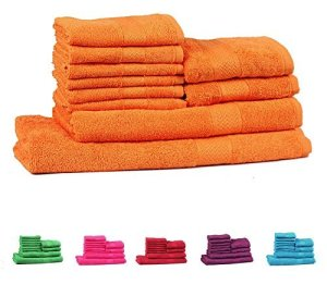 Trident Orange 10 Pcs Towel Set Rs 649 only amazon GIF 2017