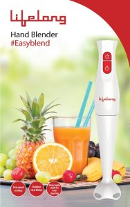 Lifelong LLBH 200W Hand Blender - 2-speed (White and Red) Rs 599 only amazon