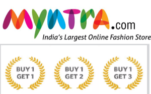 myntra buy 1 get 3 offers on fashion