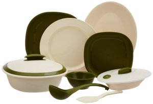 Amazon – Buy Signoraware Matt Finish Square Dinner Set, 36-Pieces, Heena at Rs 1,398 only