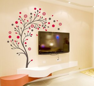 Amazon Decals Design 7156 StickersKart Wall Stickers Beautiful Magic Tree with Flowers