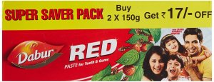 Amazon - Buy Dabur Red Tooth Paste Super Saver Pack - 300 g at Rs 94 only
