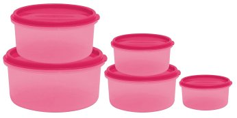 Amazon - Buy Princeware SF Round Package Container Set, 5-Pieces at Rs 80 only