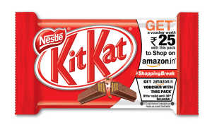 Amazon Loot – Buy Kitkat worth Rs 20 or Rs 25 and get free amazon voucher of same value