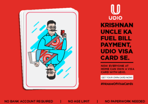 udio app get physical card for just Re 1 only
