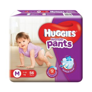 Amazon GIF 2016 – Buy Huggies Wonder Pants Medium Size Diapers (56 Count) at Rs 419 only