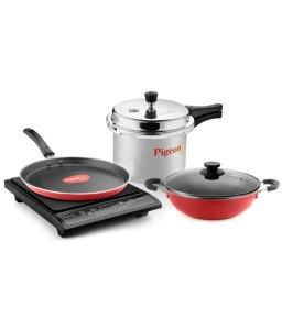 pigeon-sterling-5-pc-induction-based-kitchen-combo-1-induction-cooktop3-ltr-pressure-cooker-3-mm-heavy-kadhai-with-lid-240-mm-3-mm-heavy-250-mm-tawa-rs-2799-only-snapdeal