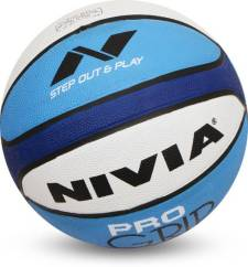 Flipkart - Buy Nivia Basketball Pro Grip Basketball - Size 7 (Pack of 1, White, Blue) at Rs 193 only + Rs 40 Delivery
