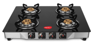 Flipkart - Buy Pigeon Ultra Glass, Stainless Steel Manual Gas Stove (4 Burners) for Rs.2999(59% off)