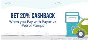 Get 20% Cashback On Paying At Petrol Pumps