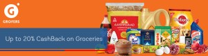 Grofers - Get 20% cashback on Paying with RBL Bank Debit Credit Card