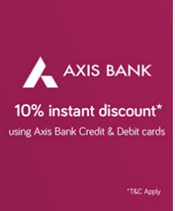 Snapdeal - Get Flat 10% Instant Discount via axis bank cards