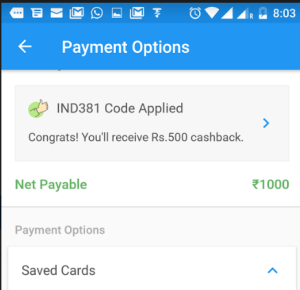 haptik app get flat 50 cashback on recharge and bill payments