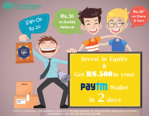 wealthfund refer and earn upto Rs 1000 paytm cash