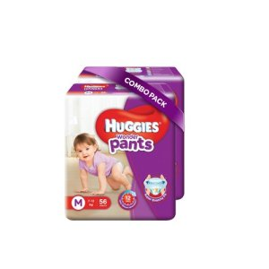 Amazon - Buy Huggies Wonder Pants Medium Size Diapers (Pack of 2, 56 Counts per Pack) at Rs 790 only