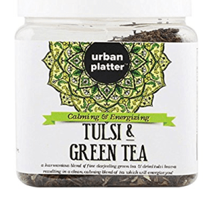 Urban Platter Tulsi Green Tea (Loose Tea in Jar), 100g