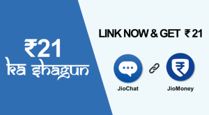jiochat link jiomoney and get Rs 21 for free