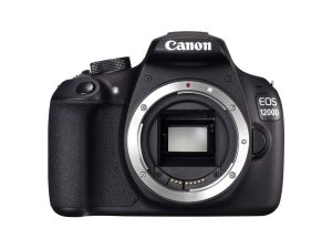 Amazon - Buy Canon EOS 1200D 18MP Digital SLR Camera (Black) with Body Only, 8GB Card and Carry Case  at Rs 18,999
