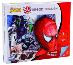 Spiderman themed 3D puzzle for kids