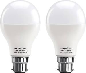 Flipkart - Buy Moserbaer 14 W B22 LED Bulb  (White, Pack of 2) at Rs 349 only