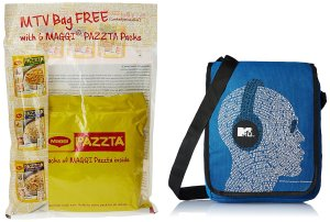 Maggi Pazzta Pack, 398g with Free MTV Bag Rs 150 only amazon