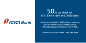 Samsung Pay App icici bank offer