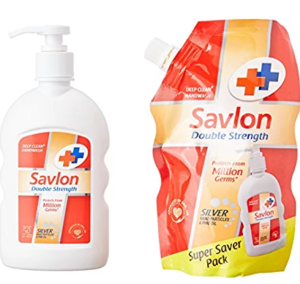 Savlon Double Strength Handwash - 220ml with Free Savlon Double Strength Handwash - 185ml