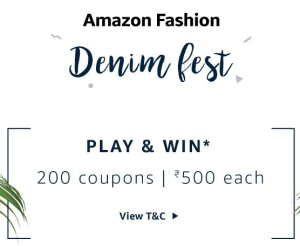 Amazon denim fest on 27th March to 28th March