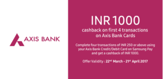 samsung pay axis bank offer