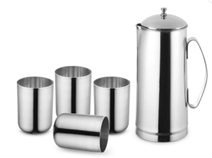 Classic Essentials 151845 Jug Glass Set  (steel) at Rs.299