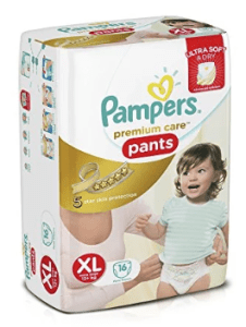 Pampers Premium Care Extra Large Size Diaper Pants (16 Count)