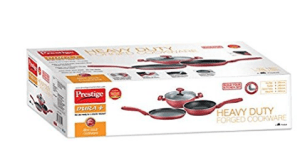 Prestige Dura Plus BYK Set, 3-Pieces, Red at Rs.1,938