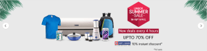 Snapdeal Unbox Summer Sale - upto 70% off on All Catagories + 10% cashback via HDFC Bank Credit Cards
