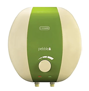 V-Guard Pebble 6-Litre 2000-Watt Water Heater (Ivory and Green)
