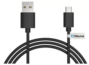 iVoltaa iVFK1 Sync & Charge Cable (Black)