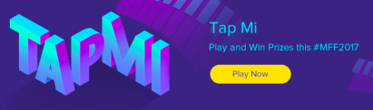 mi fan festival TAPME game. play and win coupons
