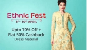 paytm ethnic fest dress materials
