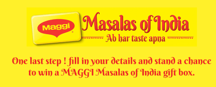 (Winners declared) Paytm maggi contest – Fill in your details and get a chance to win a Maggi Masalas of India gift box