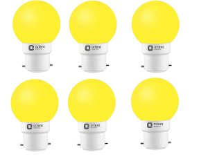 Amazon- Buy Orient Electric Base B22 0.5-Watt LED Bulb (Pack of 6, Yellow) at just Rs 169 only